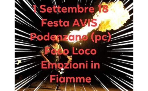 1 settembre Festa Avis Podenzano